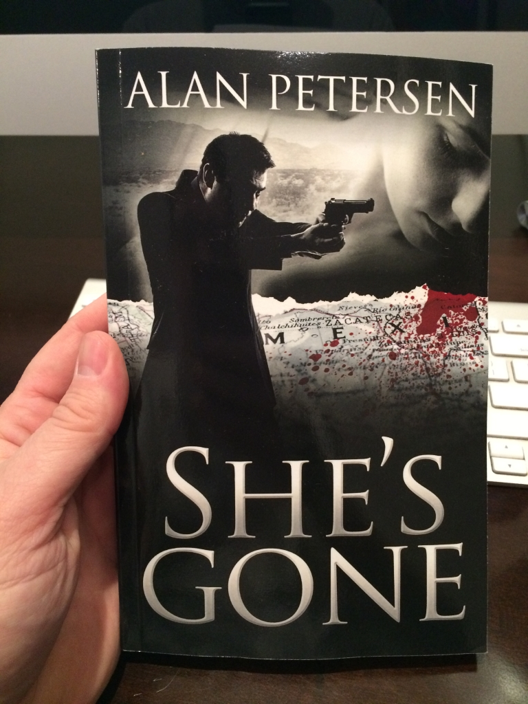 New Paperback Book Cover for She's Gone