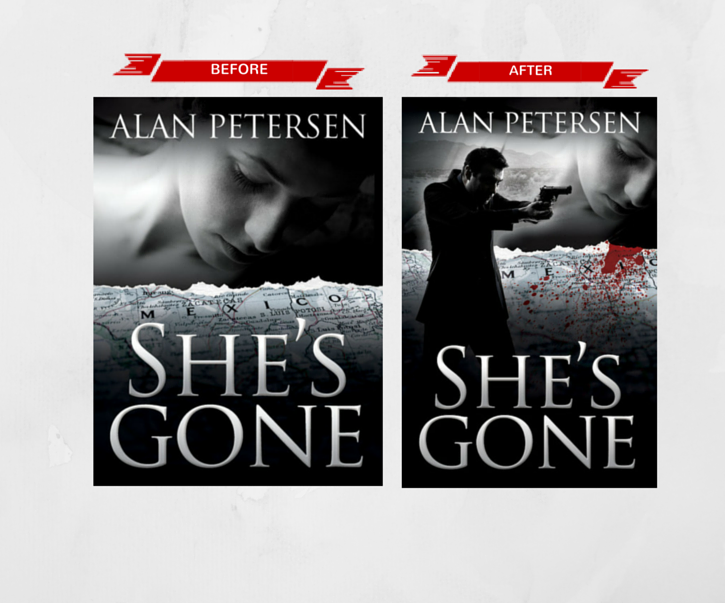 Book Cover Redesign for She's Gone